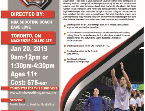 NBA Shooting Coach in North Toronto – Only a few spots left – Register Today!!!